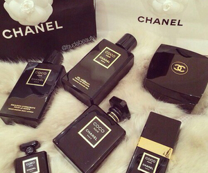 chanel, black, and perfume image