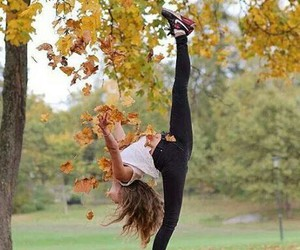 autumn, dance, and girl image