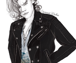 Harry Styles, one direction, and draw image