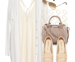 beige, dress, and outfit image