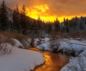 snow, clouds, and nature image