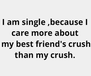 crush, best friends, and single image