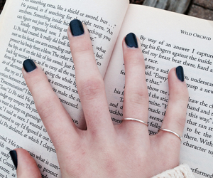 book, black, and nails image