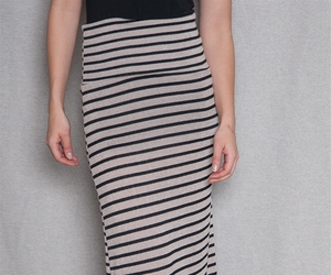 maxi skirt, striped, and taupe image