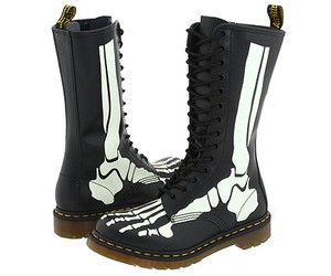 boots, skieleton, and cool image