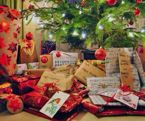 christmas, light, and present image