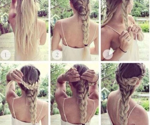braid, hair, and updo image
