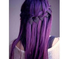 hairdo, trenza, and violet image