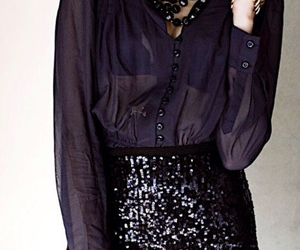 black and sequin image