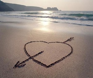 heart and beach image
