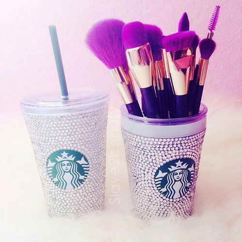 starbucks, makeup, and Brushes image