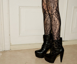 shoes, heels, and tights image