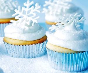 cupcake, winter, and food image