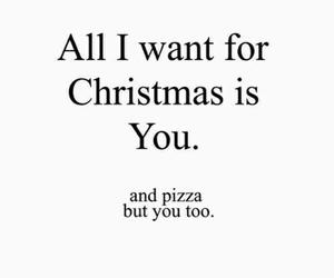 christmas, pizza, and you image