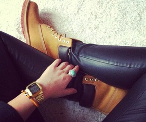 fashion, timberland, and shoes image
