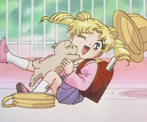 sailor moon, anime, and puppy image
