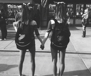 best friends, cheer, and love image