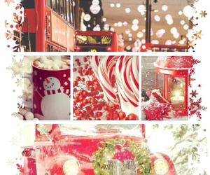 christmas, snow, and Collage image