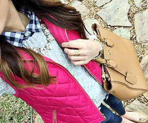 plaid, preppy, and tory burch image