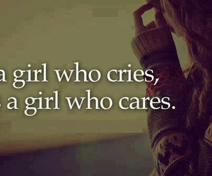 girl, cry, and care image