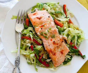food, salmon, and healthy image