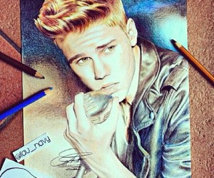 drawing, justin bieber, and amazing image