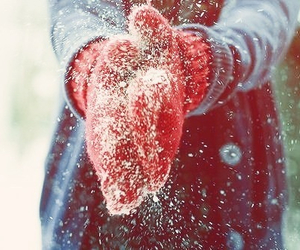 snow, winter, and gloves image