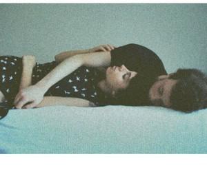 girl, guy, and hug image