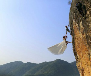 wedding, crazy, and wedding dress image