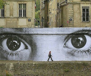 eyes, graffiti, and man image