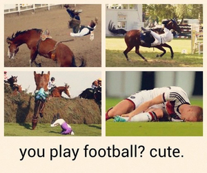 football, horses, and cute image