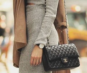 black, purse, and fall image