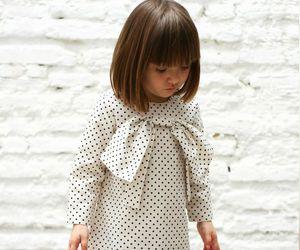 bangs, dress, and kids fashion image