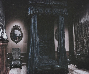 black, room, and bed image