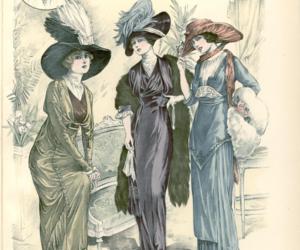 1912, edwardian, and fashion history image