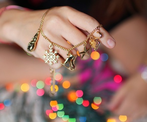 bracelet, jewelry, and christmas image