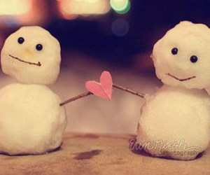 love, snow, and cute image
