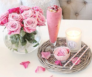 pink, rose, and candle image