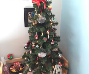 christmas, ornaments, and christmas tree image
