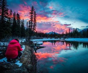 lake, travel, and tree image