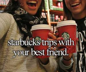 starbucks, best friends, and coffee image