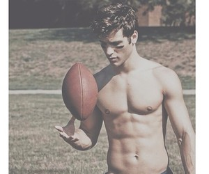 boy, fit, and football image