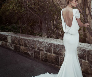 wedding dress, bridal gowns, and wedding gown image
