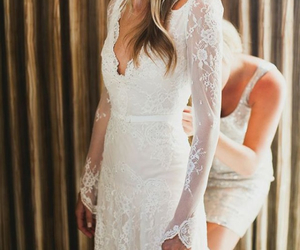 dress, lace, and sleeves image
