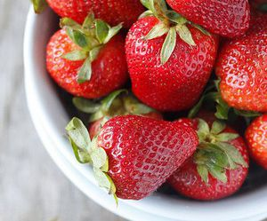 strawberry, food, and berry image
