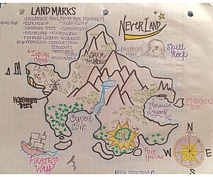 map, neverland, and peter pan image