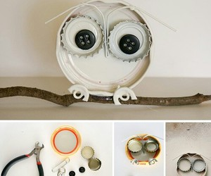 diy, owl, and recycling image