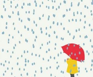 girl, rain, and red image