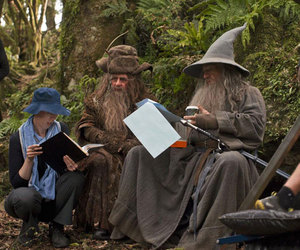 behind the scenes, the hobbit, and radagast image