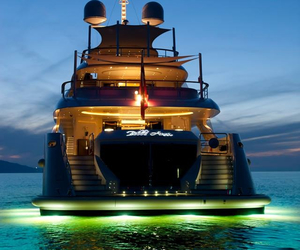 luxury, yacht, and expensive image
